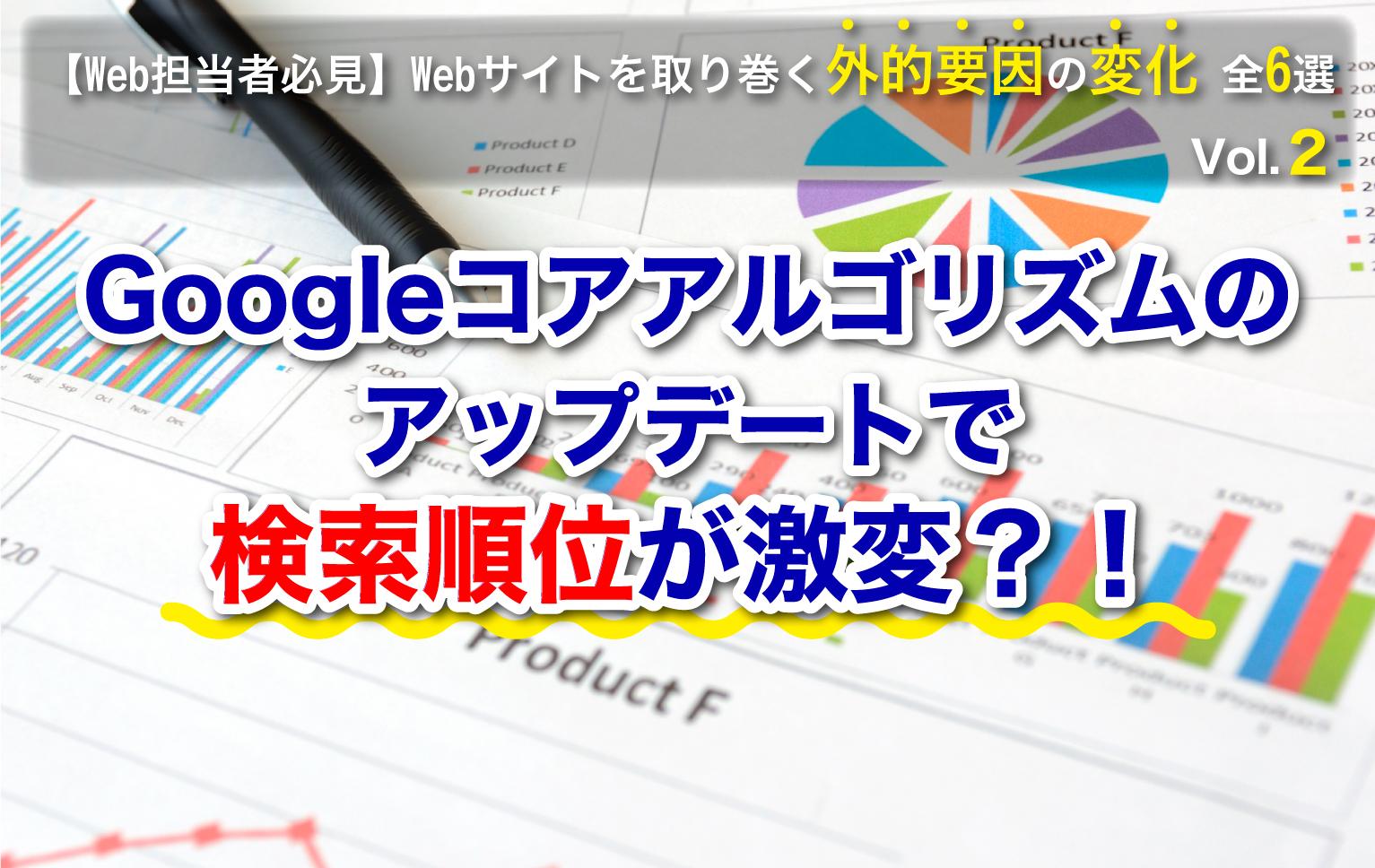 Googleコアアルゴリズムのアップデートで検索順位が激変?!